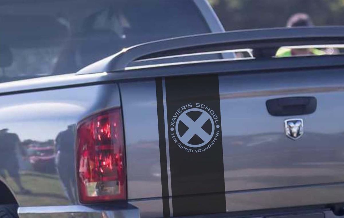 Hemi Dodge Ram Vinyl Heckklappenstreifen X-Men Xavier School Logo Comics Superhelden