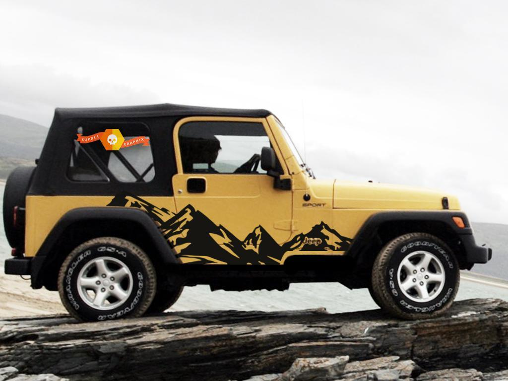Product Vinyl Graphics Decal Wrap For 99 06 Jeep Wrangler