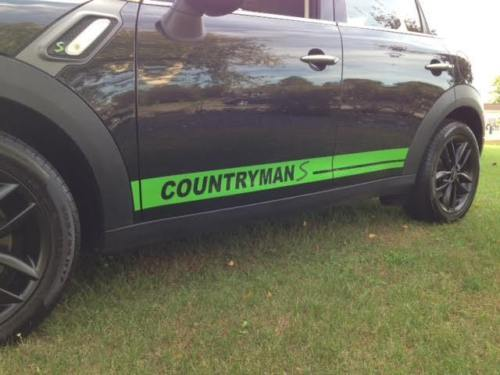 Rocker Graphics Stripes Decals fits any Mini Countryman Cooper S Clubman Coupe