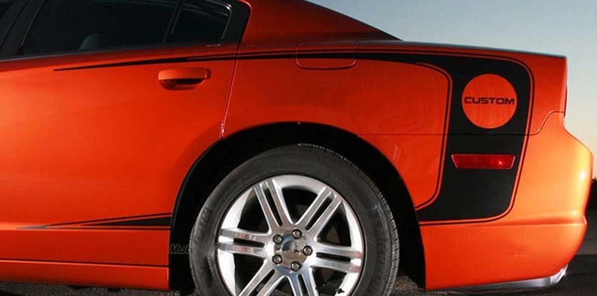 2011 2012 2013 2014 Dodge Charger Rear Quarter Panel Seite C Streifen Rally Decals