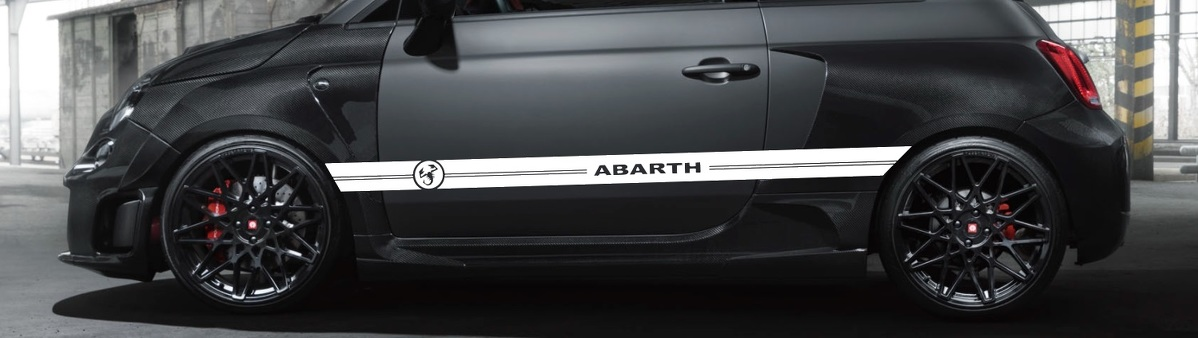 Product Graphics Racing Line Sticker Car Side Stripe Decal For Fiat Abarth Aufkleber