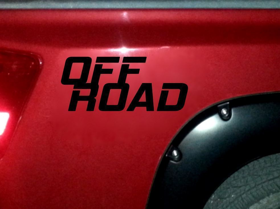 OFF ROAD x2 (TWO) Sticker Decals Truck bed rear quarter panel tailgate 4x4 mud