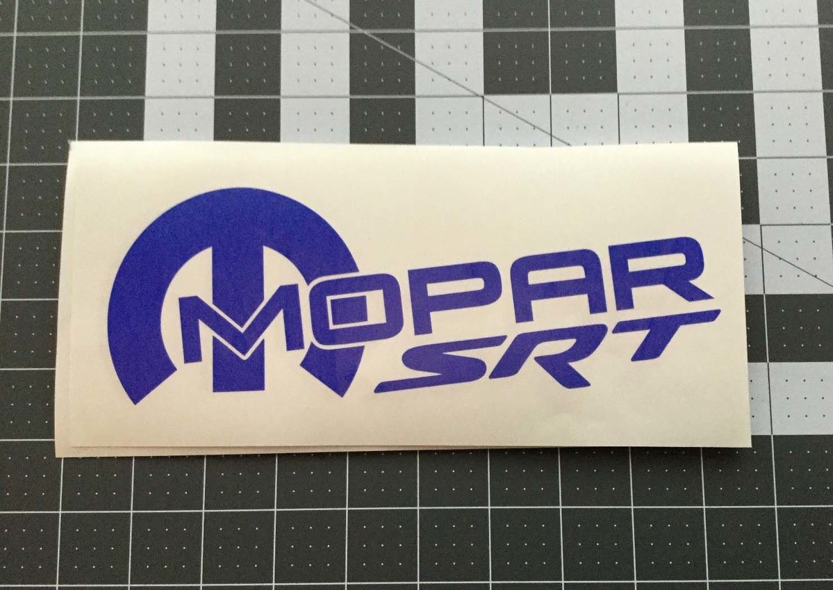 SRT Racing Decal Sticker logo Mopar Dodge Racing HEMI Hellcat New USA Pair