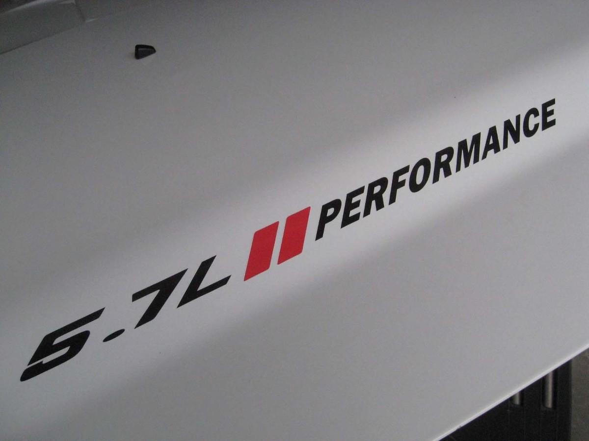 5.7L PERFORMANCE Hood Decals mit roten Streifen Dodge Ram 1500 2500 3500 Hemi V8