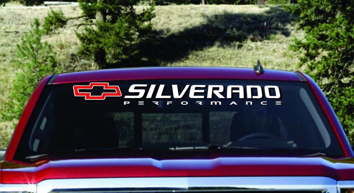 Chevy SILVERADO 1500 2500 3500 Windshield Decal Banner ANY YEAR MAKE