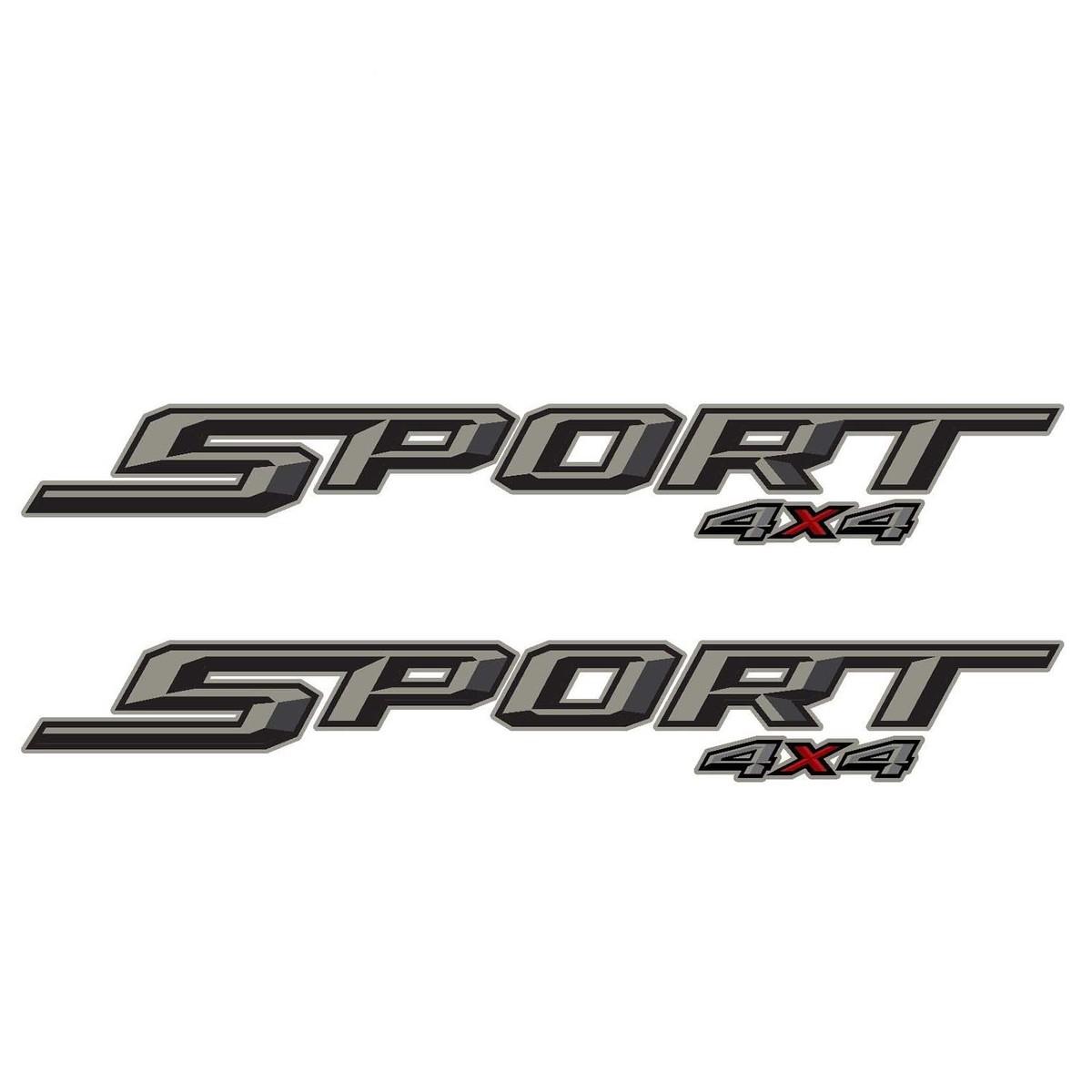 2er-Set: 2018 Ford F-150 F-250 Sport 4X4 Geländewagen-Aufkleber