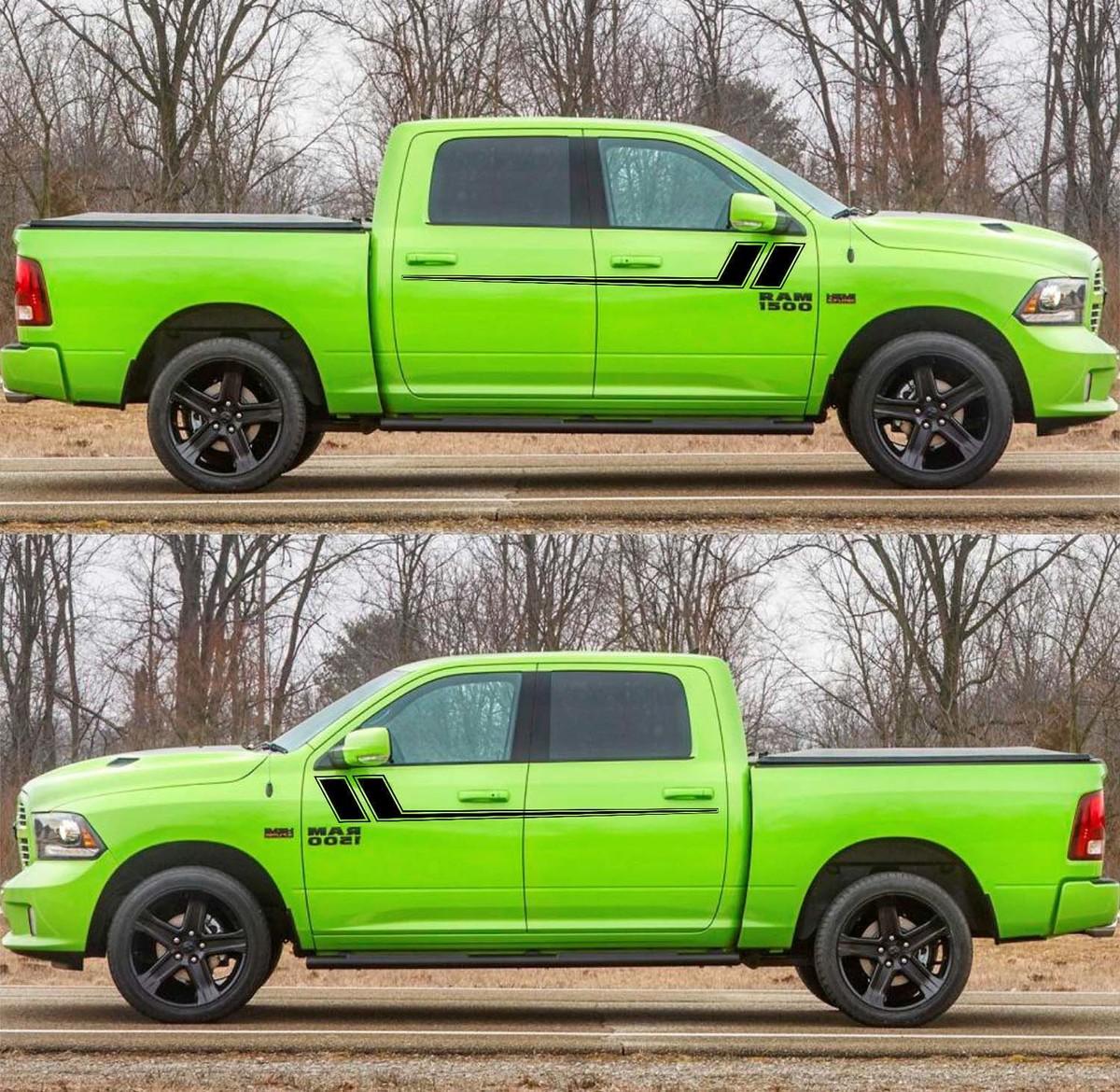2X Decal Sticker Seitentürstreifen für Dodge Ram 2009-2017 1500 2500 Offroad