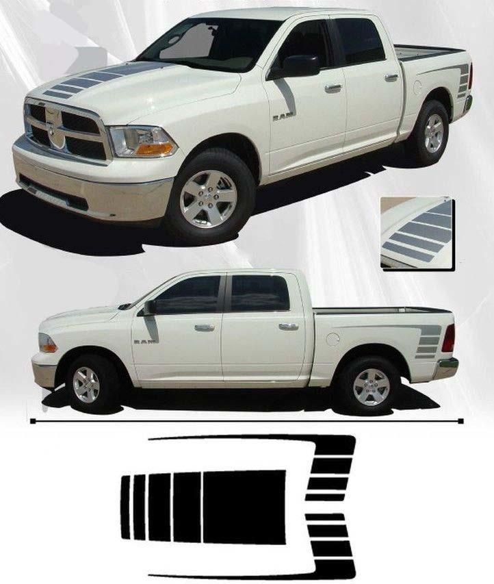 3x Dodge Ram 1500 2500 Hood Seitenbett Vinyl Decals Grafik Rallye Aufkleber Kit