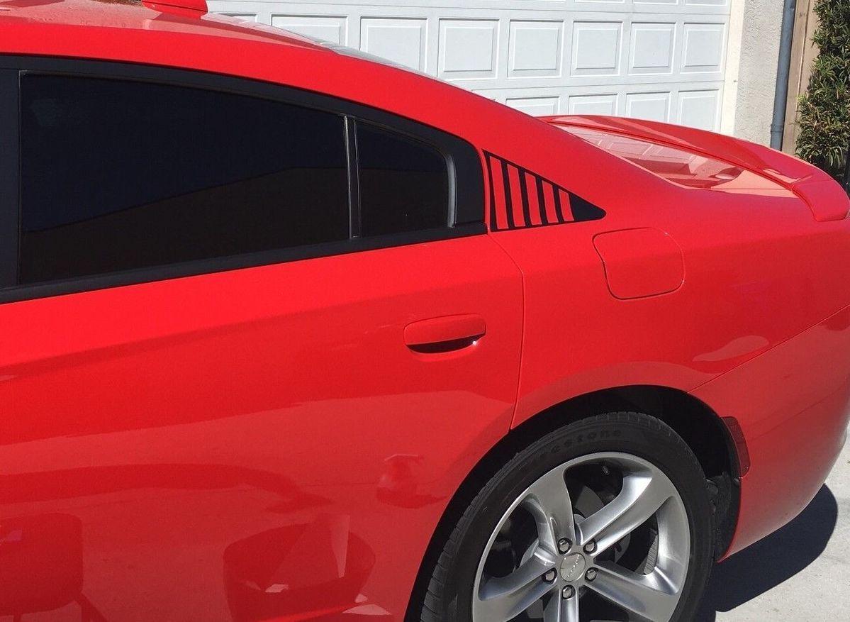 2X Dodge Charger Luftschlitz Stil C Säule Aufkleber 2011 2012 2013 2014 2015 2016 2017