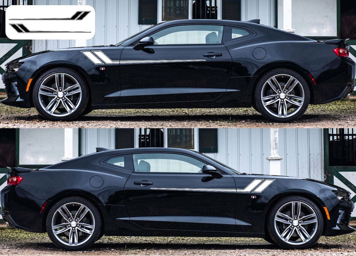 2x Chevy Camaro Hockey 2016 - 2018 side Vinyl Decals graphics rally stripe