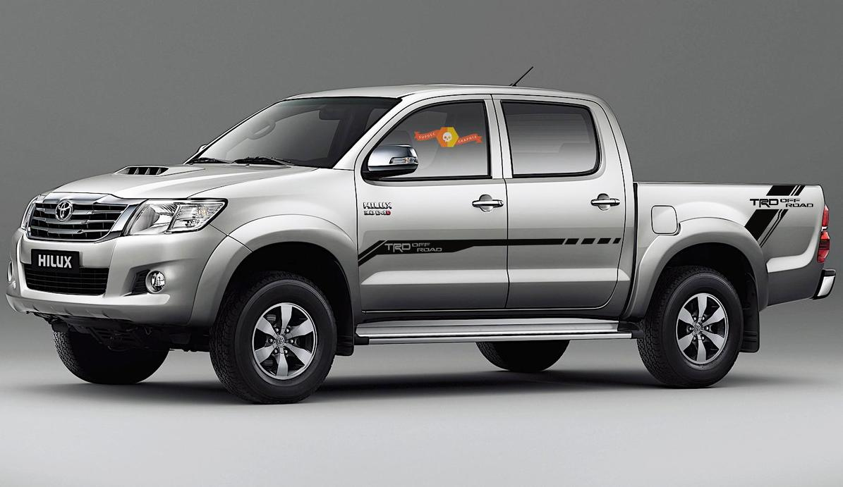 4x Toyota Hilux Trd Off Road Side Vinyl Decals Graphics Rally Sticker