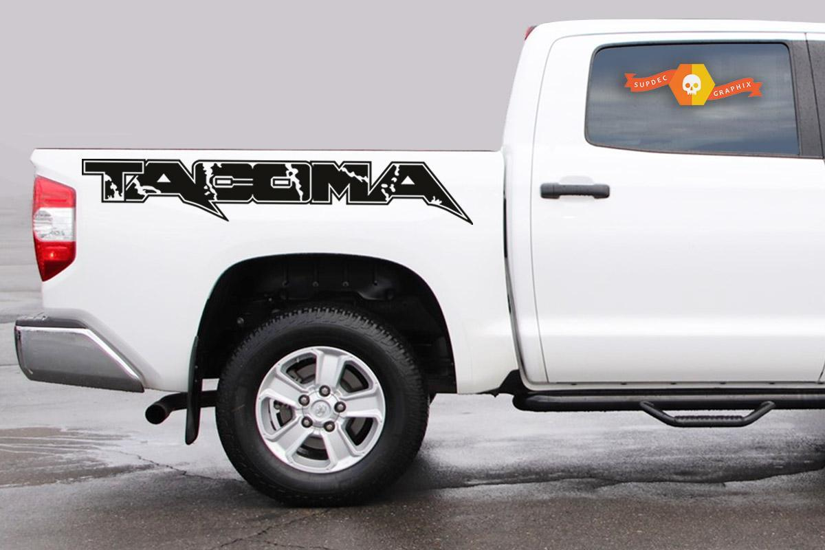 2 of wild mountains side bed graphics decal sticker designed for Toyota Tacoma