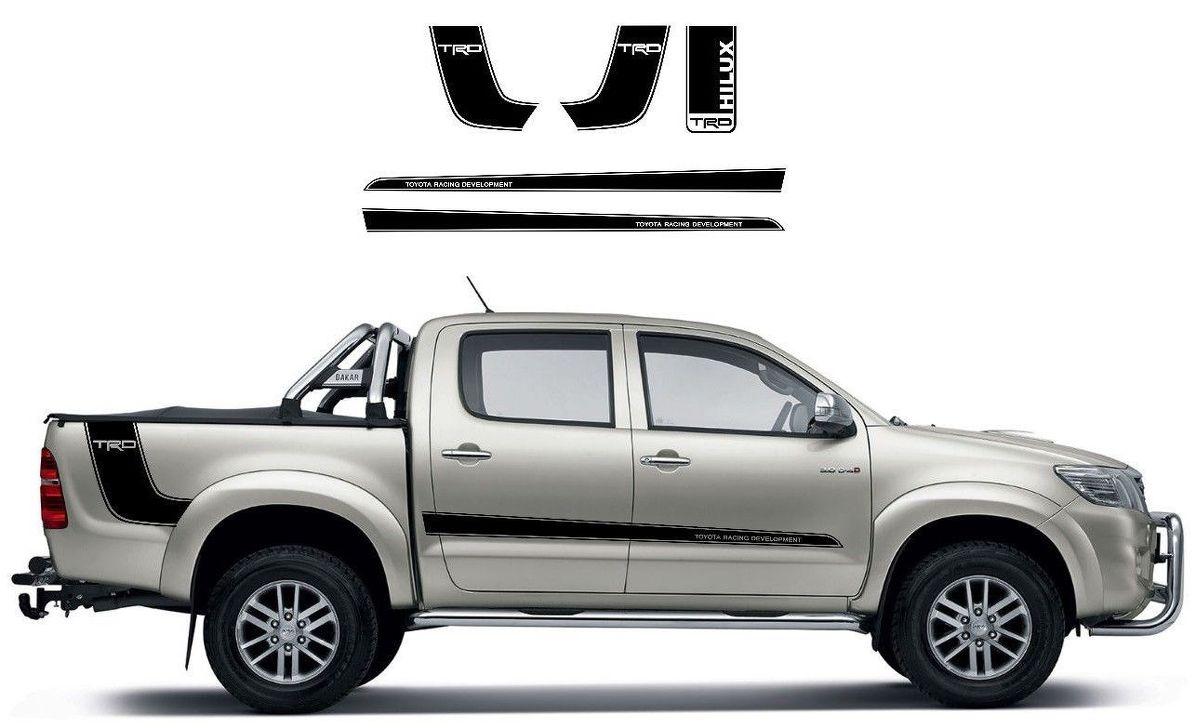 Toyota Hilux Trd Seitenbett Vinyl Grafik Rallye Aufkleber Kit