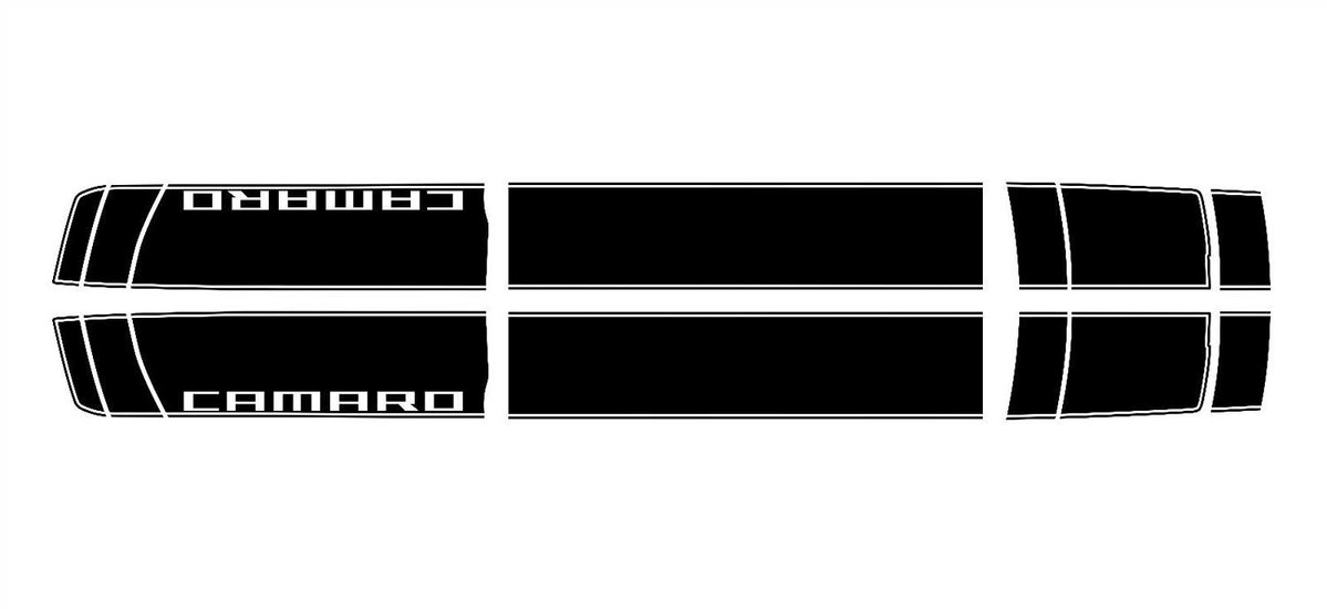 2016- 2017 Camaro Pin Stripe Rally Vinyl Graphic Decals Racing Stripes SS RS