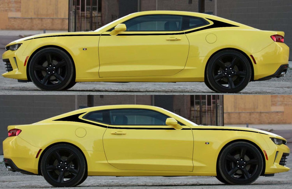 C-Pillar Upper Accent Graphics Decals Stripes for Camaro 2016 - 2018
