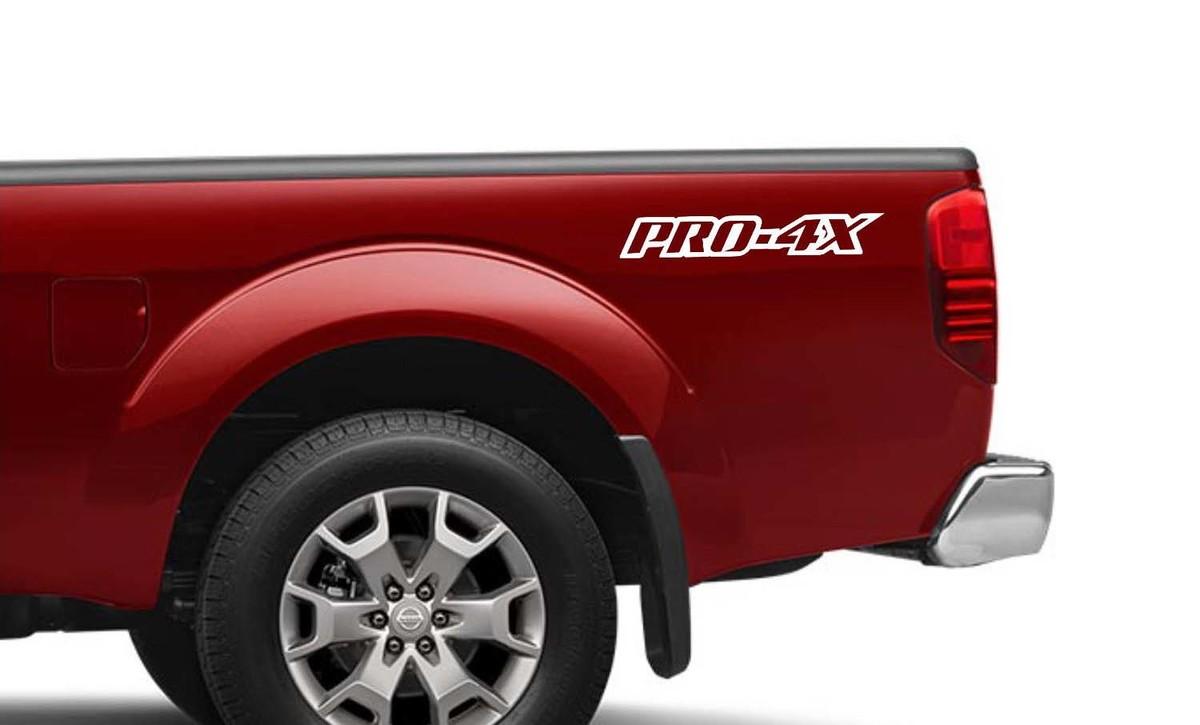 2X Nissan Frontier Pro-4X Vinyl Beidseitige Aufkleber Aufkleber 4x4 Grafik nismo