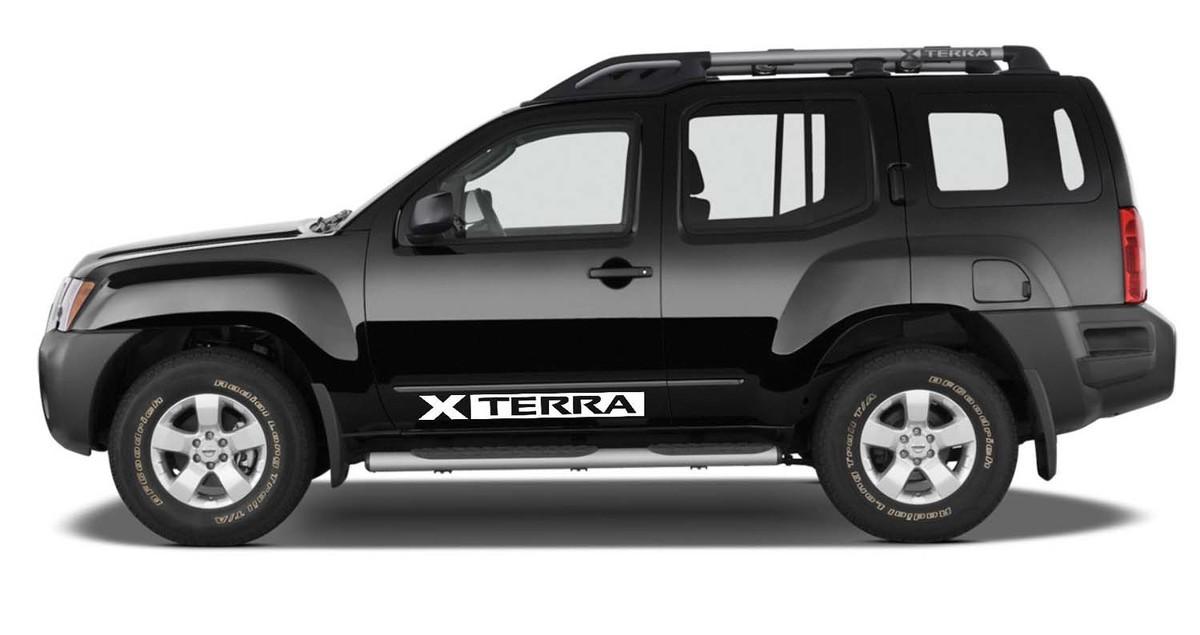 2X Nissan XTERRA Vinyl Doors logos Sticker Decals Graphics