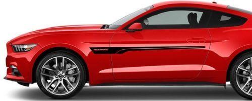 2X Ford Mustang Seite Vinyl Decals Grafiken Rallye Aufkleber
