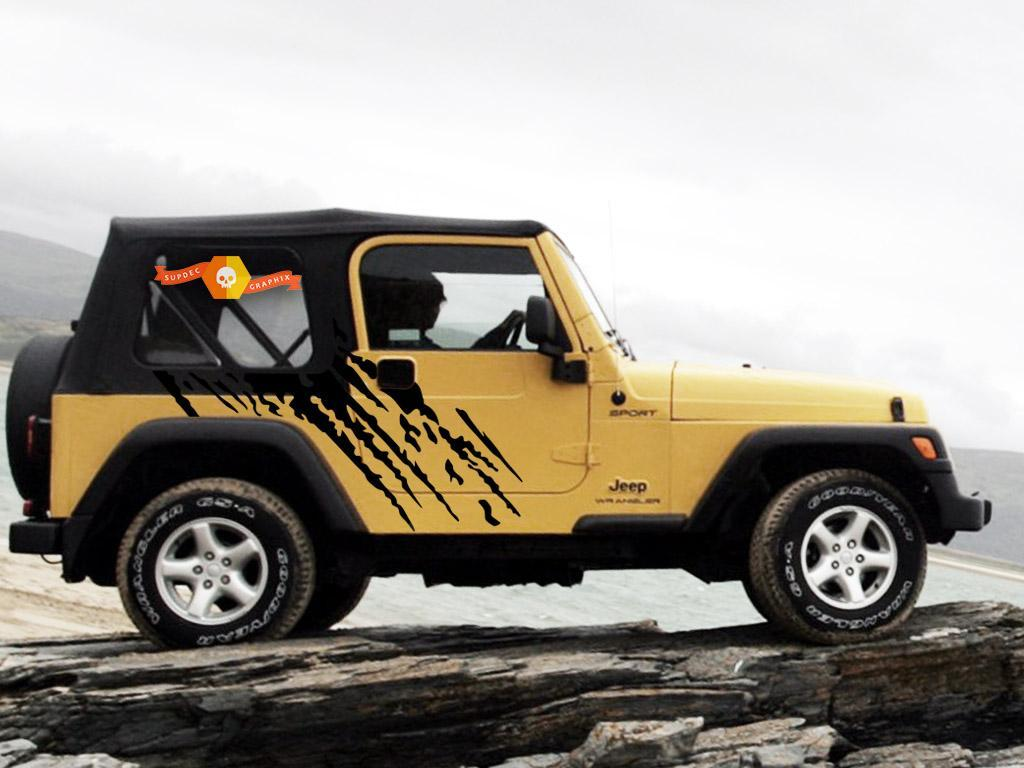 JEEP WRANGLER (1999-2006) CUSTOM VINYL WRAP KIT - SPLASH