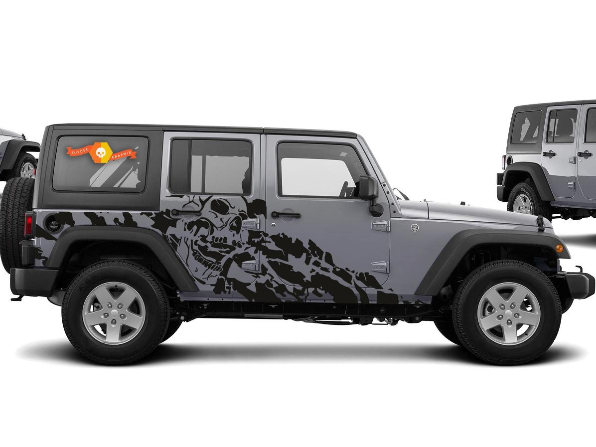 Product jeep wrangler 2007 2016 4 door custom vinyl decal kit nightmare