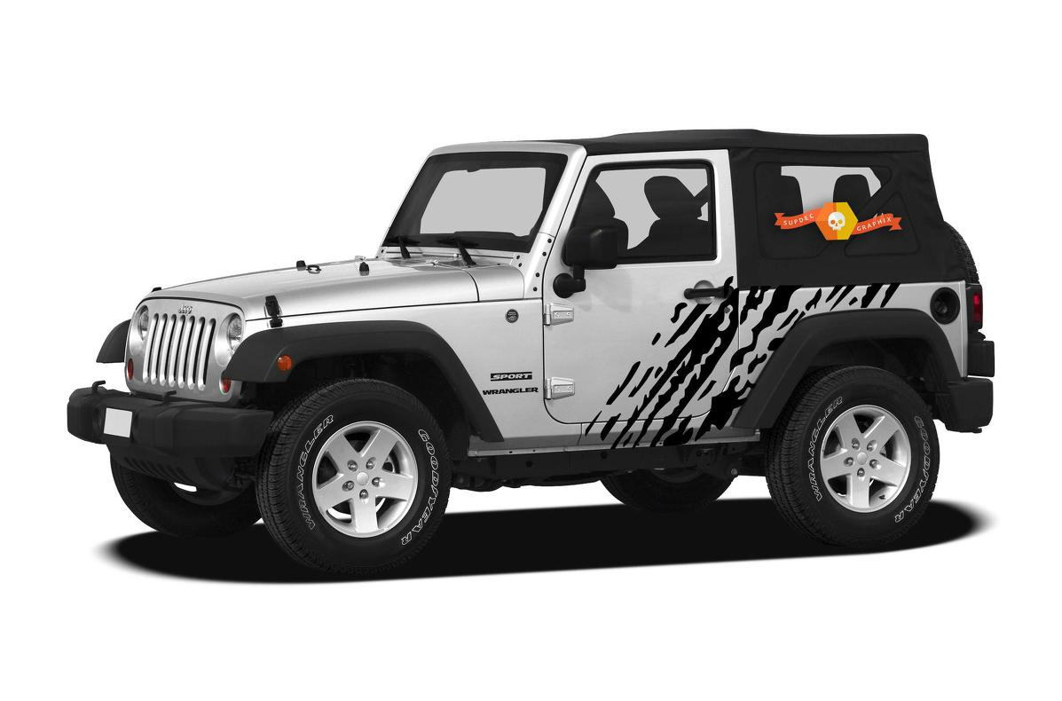 Product jeep wrangler 2007 2016 2 door custom vinyl decal wrap kit splash