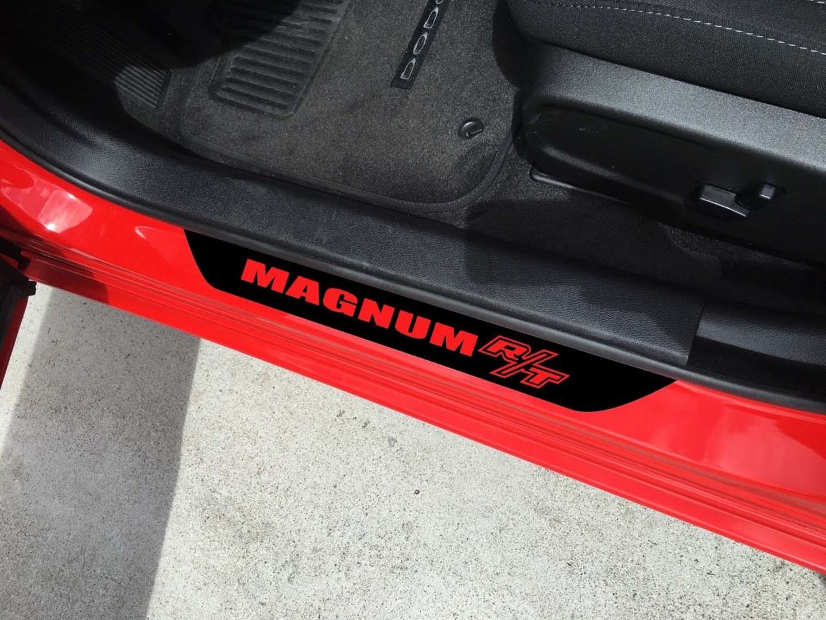 4X Dodge Magnum R / T Vinyl Türschwellen Aufkleber GRAFIK EMBLEM LOGO