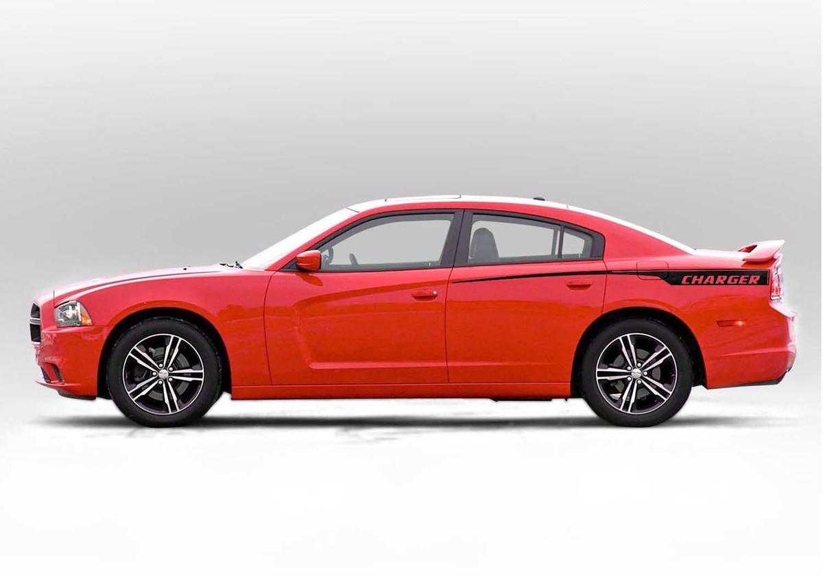 Viertelstreifen-Akzent-Seitenstreifen-Aufklebersatz für Dodge Charger 2011 - 2014