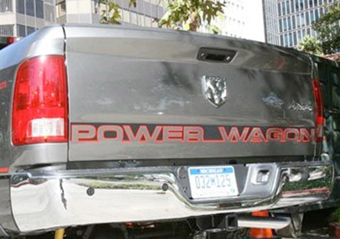 Product dodge ram 1500 power wagon truck tailgate accent vinyl graphics stripe decal