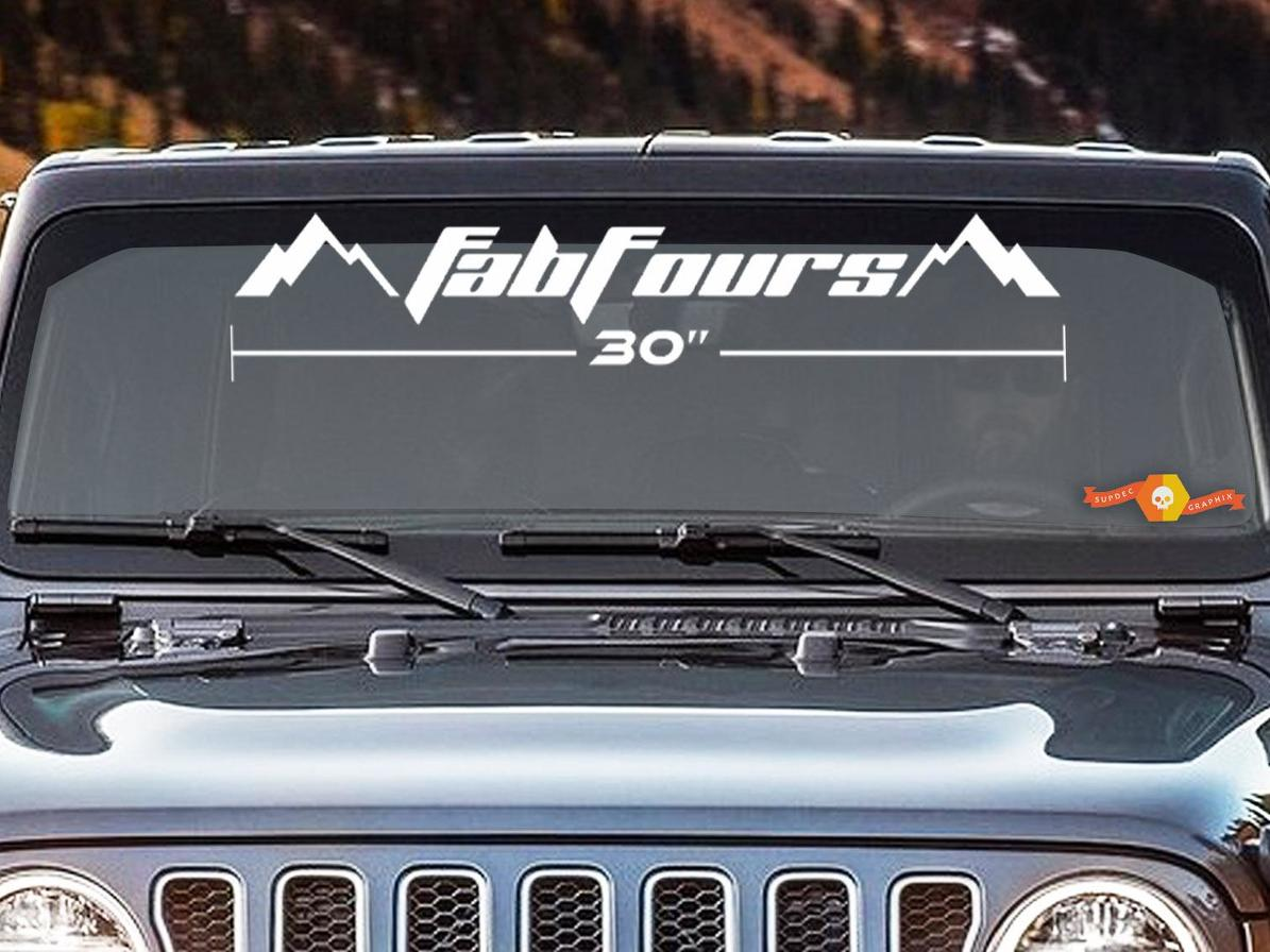 Car & Truck Decals, Emblems & License Frames SELECT SIZE Car & Truck Parts FAB FOURS OFFROAD LOGO DECAL Jeep Toyota Bumper Car Truck 4X4