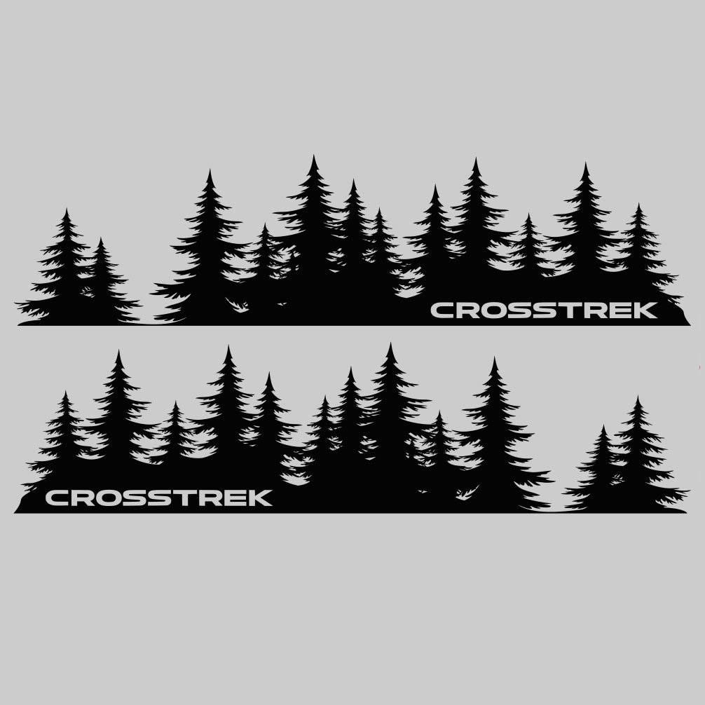 Subaru Crosstrek Baum Aufkleber benutzerdefinierte Vinyl Tür Grafik Wald Silhouette Baum Aufkleber