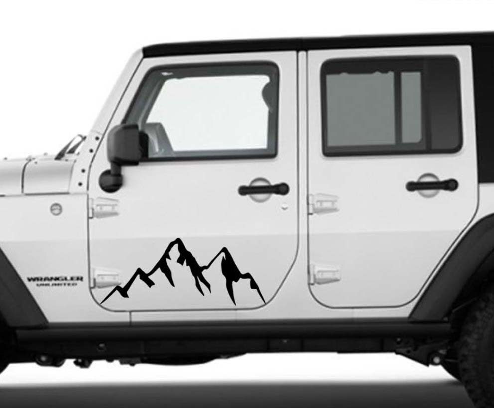 Product mountains car accessories graphic decal vehicle body sticker for jeep subaru toyota door camper rv truck trailer suv custom nature scene