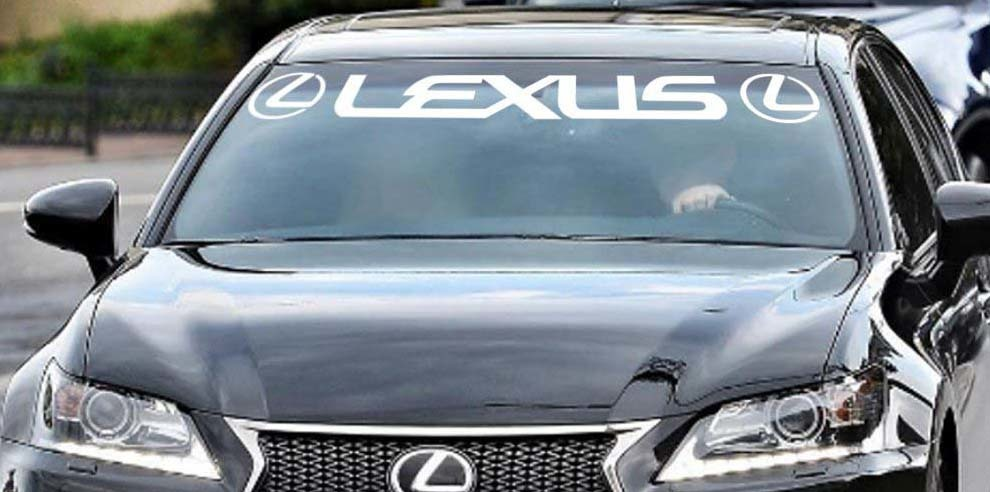 Lexus Windshield Sticker Banner Decal Vinyl Luxury Toyota Window Graphic custom