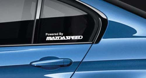 Powered By Mazdaspeed Decal Sticker logo Mx5 Mazda3 CX9 CX5 miata Pair