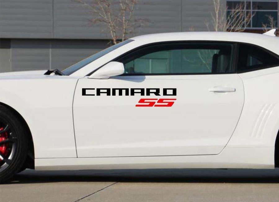 2X Chevrolet Camaro SS Vinyl Türen Logos Aufkleber Aufkleber Grafiken 2011-2018