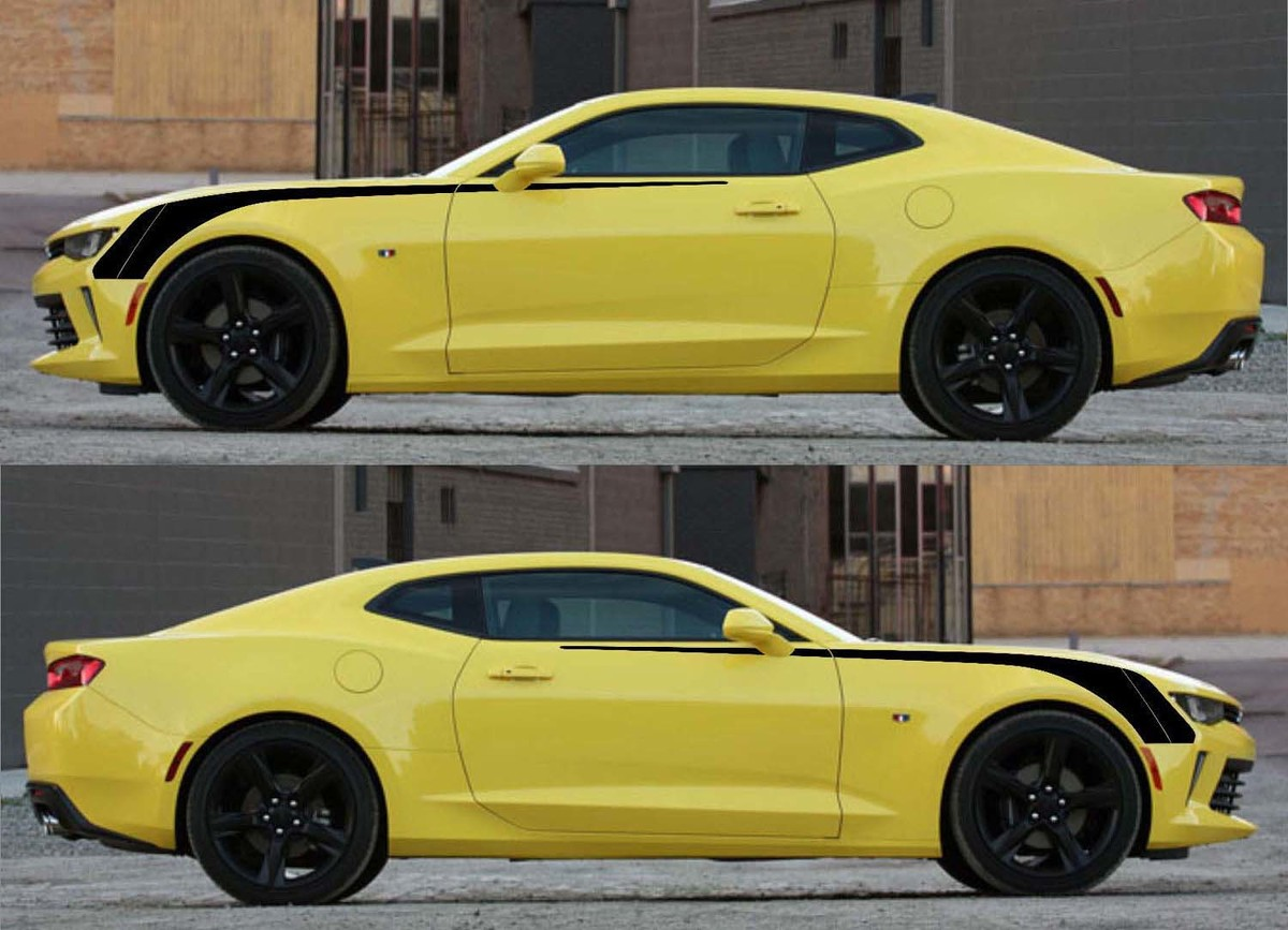 Front Side Hockey Vinyl Graphics Decals Stripes for Camaro 2016 - 2018