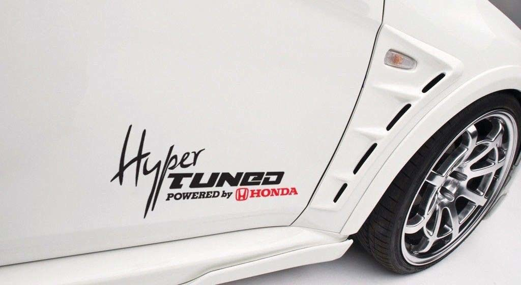 Hyper Tuned Powered By Honda Car Decal Vinyl Sticker Civic Si Accord S2000 JDM