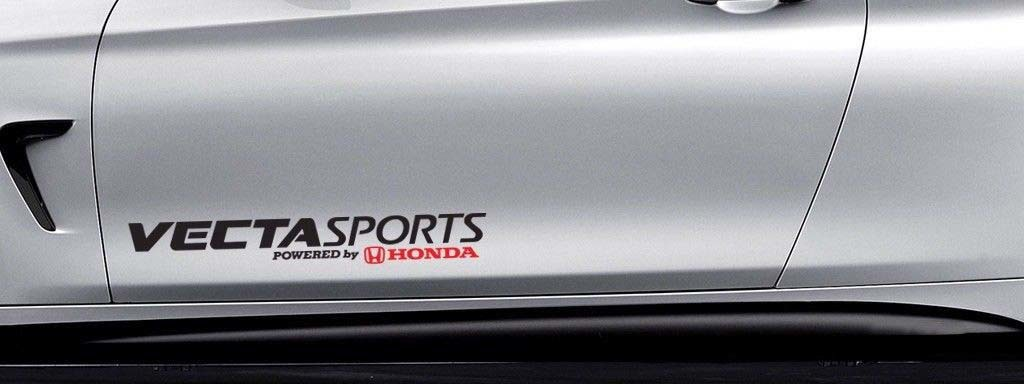 Vecta Sports Powered by Honda Car Decal Vinyl Sticker Si Civic Accord S2000 Si