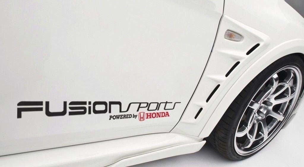 Fusion Sports Powered by Honda Auto Aufkleber Vinyl Aufkleber Civic S2000 Accord JDM