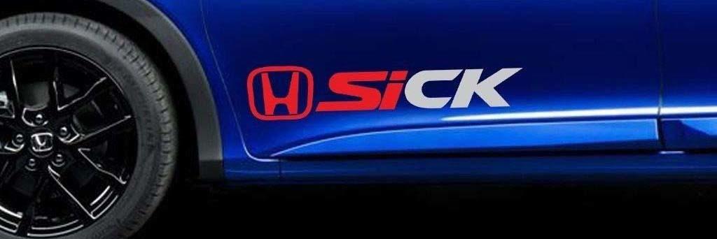 Civic Si Sick Honda Vinyl Aufkleber Rennaufkleber JDM EK Tür B.