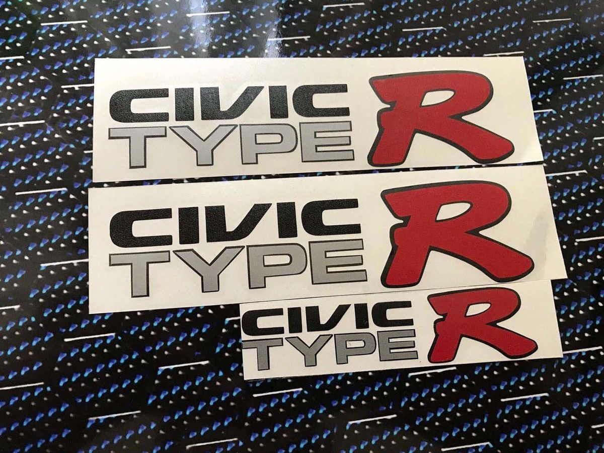 HONDA JAPAN CIVIC EK9 CIVIC TYPE R DECAL sticker JDM OEM size illest Ek hatch