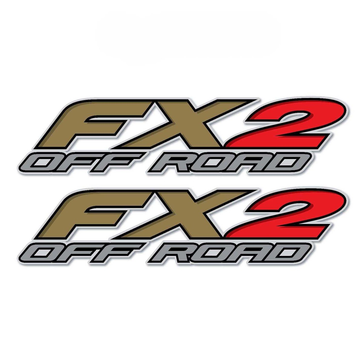 Set of 2: FX2 Off Road truck bed  side vinyl decal sticker auto car