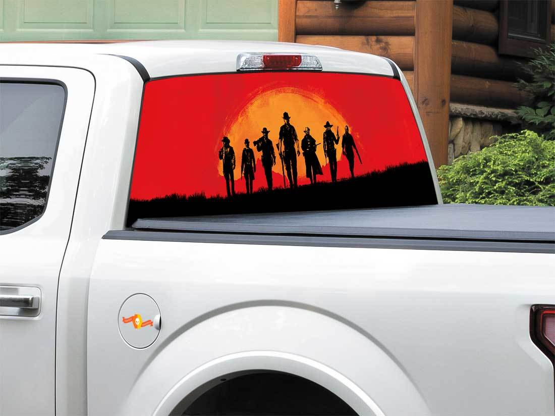 Red Dead Redemption 2 Rear Window OR tailgate Decal Sticker Pick-up Truck SUV Car