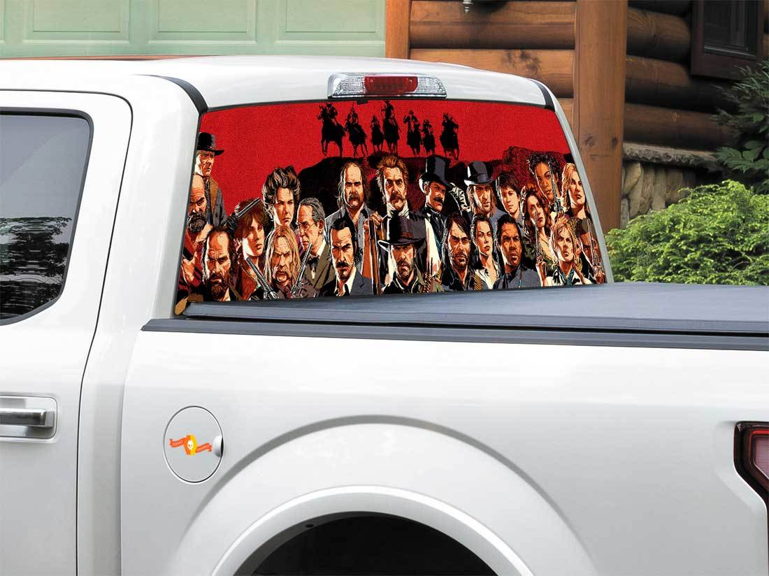 Red Dead Redemption 2 Rear Window OR tailgate Decal Sticker Pick-up Truck SUV Car 2