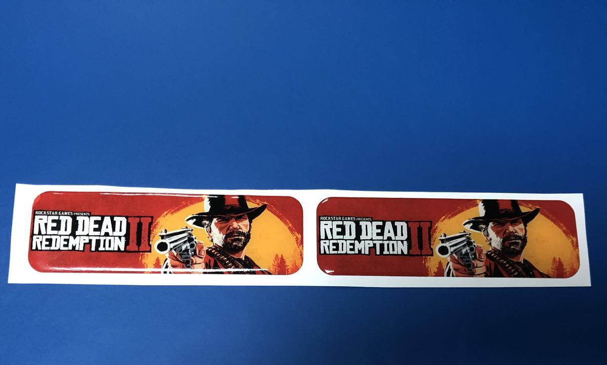 Domed decals Red Dead Redemption 2 emblems Car bike laptop stickers