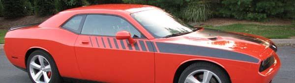 2008 & Up Dodge Challenger Strobe Akzent-Seitenstreifensatz