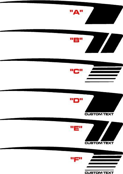 2010 - 2015 Chevrolet Camaro COPO Style Hockey Stripe Kit
