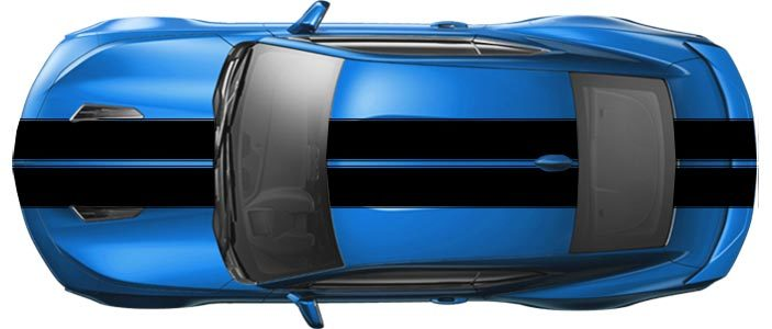 2016 & Up Chevrolet Camaro  Pace Car Style Rally Stripes Bumper to Bumper