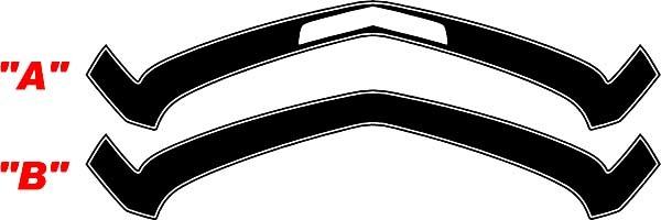 2010 - 2013 Chevrolet Camaro 1967 SS Style Front Nasenstreifen