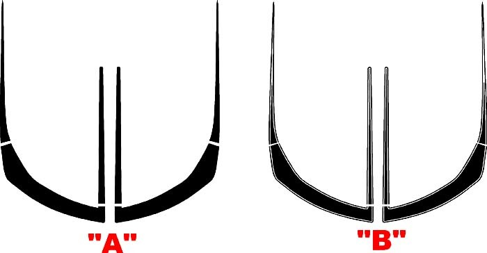 2016 & Up Chevrolet Camaro Front Fascia ZL1 Style Accent Stripes Fits LT / RS / SS