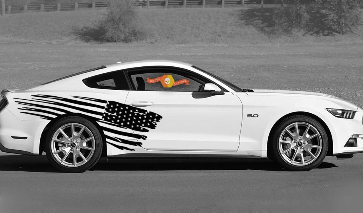 Side Accent American Flag Stripe Kit Universal Fit for many Vehicles